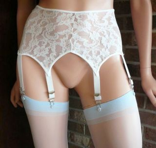 Sheer Blue Stockings for Garters 1 Sz 90 160 Pounds