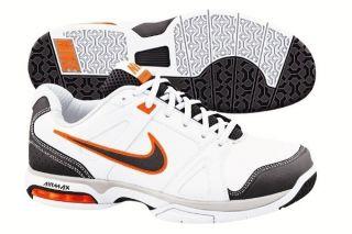 New Nike Tennis Mens Air Max Global Court   White/Blac/Orange Tennis