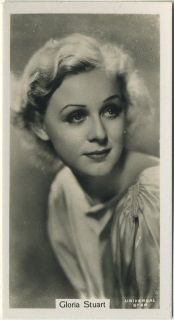 GLORIA STUART 1934 John Sinclair Film Stars Tobacco Card   From Rarer
