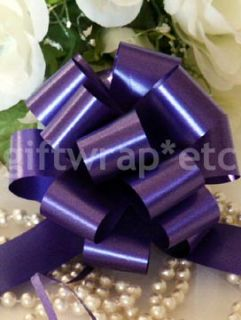 10 Purple 5 Pull Bows Gift Basket Ribbon Wedding Christmas Party