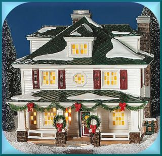 Crosby House UTube NEW Department Dept. 56 SV D56 Snow Village