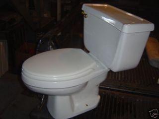 Gerber Toilet Commode Round Bowl 3 5 Gallon Big Flush Excellent White