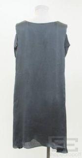 Geren Ford Gray Silk Cut Out Sleeve Tie Waist Dress Size Large