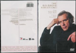 The Goldberg Variations Glenn Gould Plays Bach DVD Brand New