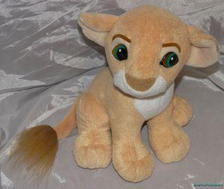 Disney Arcotoys Plush 8 Lion King Kissing Nala Simba Lion Cubs
