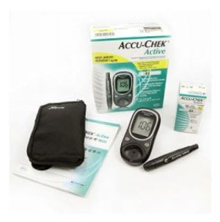Accu Chek Active Blood Glucose Kit Monitoring System 150STRIPS