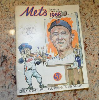 1968 New York Mets Official Yearbook with Gil Hodges