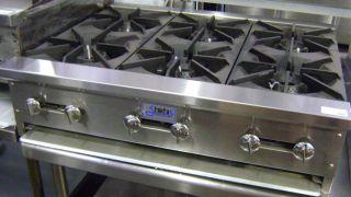 New 36 Range 6 Gas Burner Hot Plate Stove Stratus Table Top Model NSF