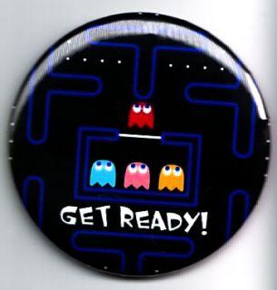 PACMAN GET READY Compact Mirror Rockabilly Gamer atari mario wii nes