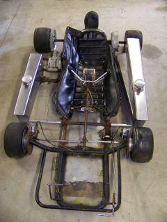 Vintage Racing Go Kart Hartman Blue Streak Chassis