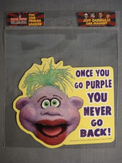 JEFF DUNHAM PEANUT ONCE YOU GO PURPLE YOU NEVER GO BACK! CAR / FRIDGE