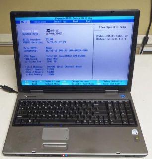 Gateway PA6 M685 E 17 Laptop Notebook 1 66GHz Dual Core DVD RW 1GB