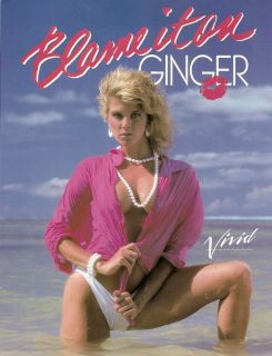 Me Ginger Lynn Atgrphd Original Movie Slick from Blame It on Ginger