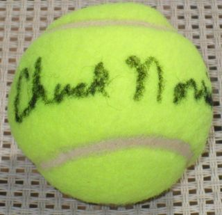 CHUCK NORRIS Walker Texas Ranger Signed Penn Tennis Ball JSA