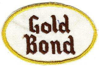 1950s Gold Bond Beer Uniform Patch Cleveland Oh