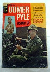 Gomer Pyle U s M C 3 A 12C Comic Book 1967 Jim Nabors Photo Cover