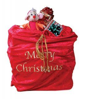 Christmas Velvet Bag Halloween Prop Holiday Decor Gift Giving
