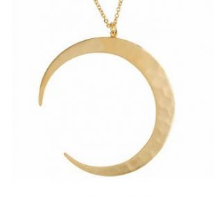 Robert Lee Morris 18K Clad Crescent Moon Pendant w/ 18 necklace $90