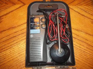 GE PORTABLE CB IN CASE WITH ANTENNA AND POWER CORD WORKS GREAT