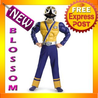 Power Rangers Samurai Gold Ranger Muscle Child Superheroes Costume