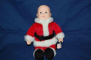 Plush 1999 Anne Geddes Baby Santa Doll Dimples Cute Stuffed Lovey