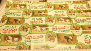 Vtg 1981 Hildred Goodwine Christmas Gift Wrapping Paper Original
