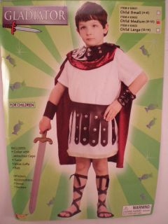 Forum Roman Gladiator Boy Medieval Costume Child M