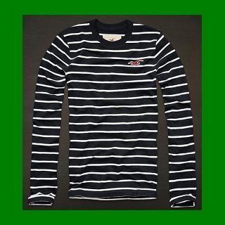 Hollister Long Sleeve Seagull L s Shirt Medium M New Authentic Navy
