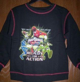 Power Rangers SPD Sweatshirt sz 7 8 New Long Sleeve L S Space Patrol