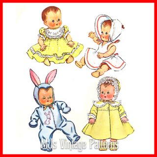 Vtg 1950s Baby Doll Clothes Dress Pattern 11 Tiny Tears DY Dee Betsy