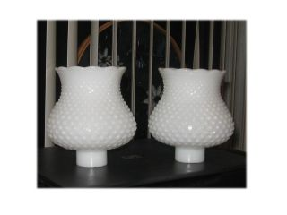 Milk Glass Hobnail Lamp Shades