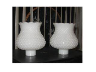 Milk Glass Hobnail Lamp Shades