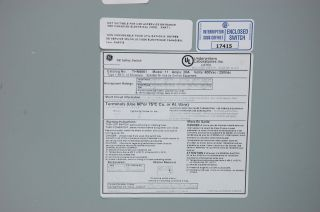 General Electric Heavy Duty Safety Switch THN6661 600V 30A 6 Pole New