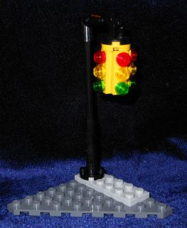 LEGO City 3 Way Traffic Light Posts for Town Street Corner Gotham City