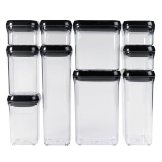 OXO Good Grips 10 Piece Pop Black Food Storage Container Set