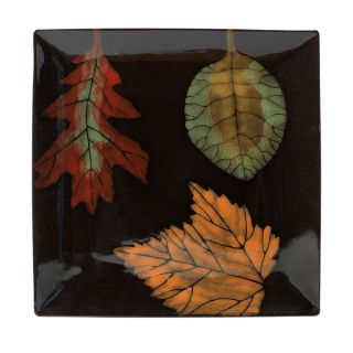 Gourmet Basics by Mikasa Square Dinner Plate Autumn Nights