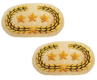CIVIL WAR rebel pair CONFEDERATE GENERALS COLLAR tabs INSIGNIA SET, UK