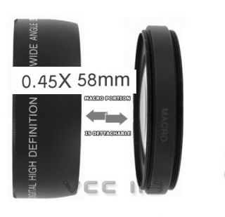 Wide Angle Lens Macro for Canon Digital S3 Is S5 Is $0S