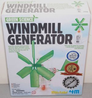 New Kidz Labz Green Science WINDMILL GENERATOR Scientific Kit