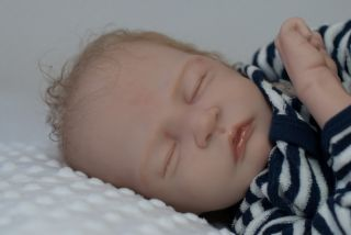 Beauiful Reborn Newborn Baby Boy BB Swee Pea Ligh Brown Hair 23inch