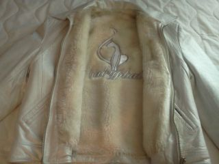 Baby Phat Womans Leather and Faux Fur Reversible Jacket
