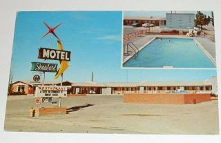 Route 66 Roadside – Santa Rosa New Mexico Shawford Motel Postcard