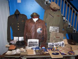 Glenn F. Perry A2 Grouping Uniforms Photos medals and more 20th Air