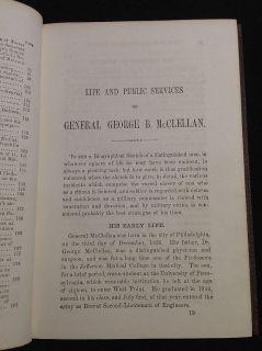 1864 General George B McClellan Civil War Biography President Campaign