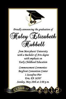 2012 Personalized Graduation Announcements Invitations