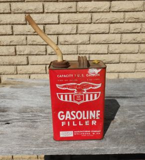 Vintage Eagle Gasoline Gas Can with Eagle Spout Display Decor Only