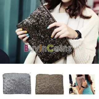 Dazzling Glitter Sparkling Bling Clutch Shiny Sequins Evening Party