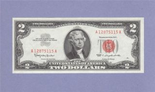 Uncirculated Two Dollar Bill $2 Note Red Seal Granahan Dillon 12875115