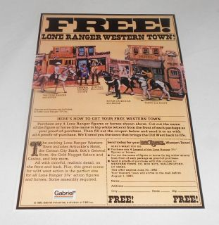 1982 Lone Ranger Gabriel Western Town Action Set Ad Page