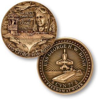 USS George H w Bush CVN 77 U s Aircraft Carrier Medal